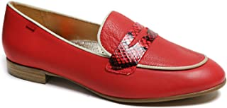 Genuine Leather Made in Brazil Womens Bryant Park 2.0 Loafer, Strawberry Nappa Soft/Viper, 6 US