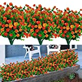 8PCS Artificial Flowers Outdoor UV Resistant Plants, 8 Branches Faux Plastic Corn-flower G...