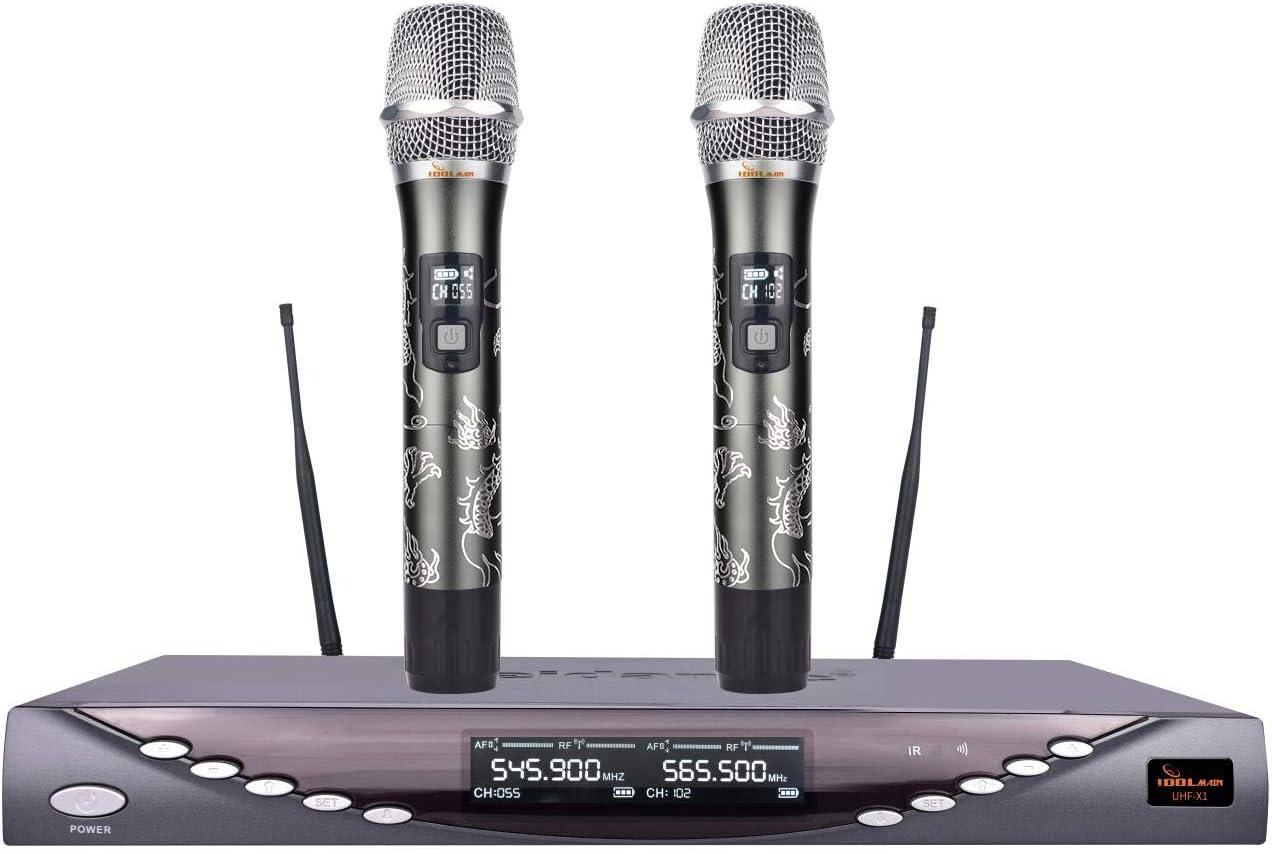 Superior Ranking TOP6 Professional Performance Dual Wireless IDOLmain UHF- Microphones
