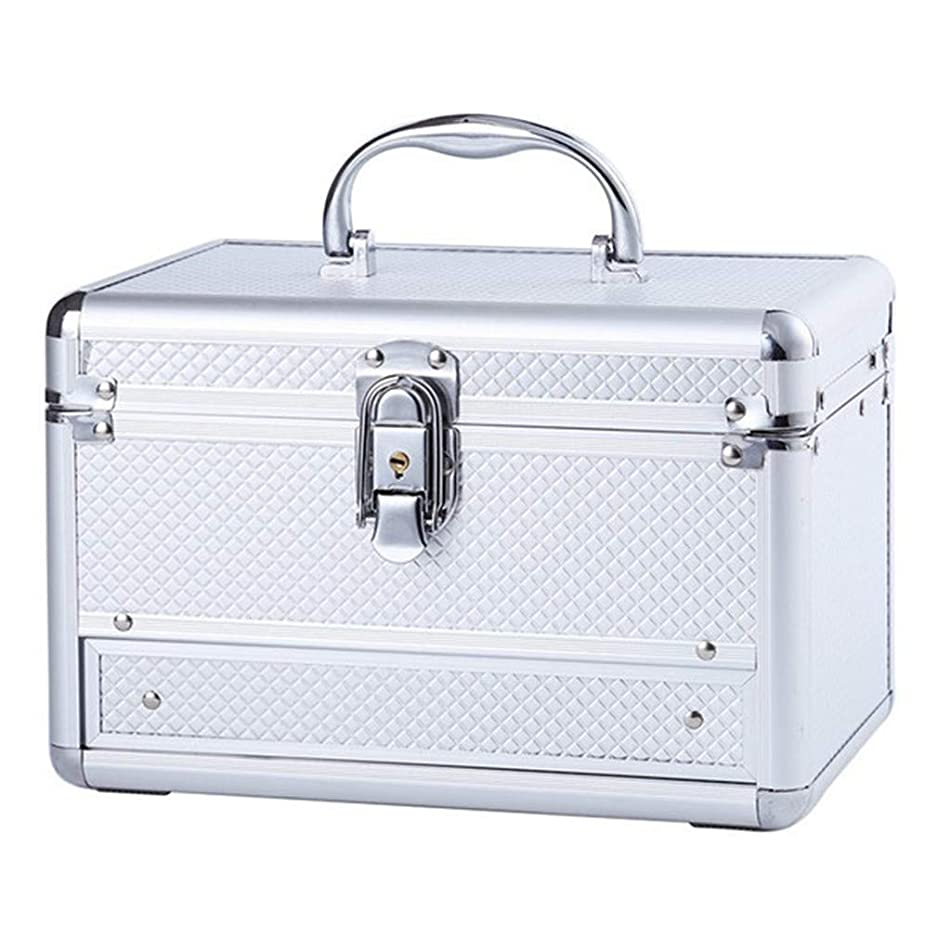 Aluminum Alloy Drawer Cosmetic Case Women Travel Beauty Vanity Make Up Organizer Girl Earrings Necklace Jewelry Accessories Box