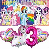 My Little Pony 3rd Party Supplies   For Girls   Third   Three   Decorations   Birthday   Banner   Backdrop   Balloons   Favors