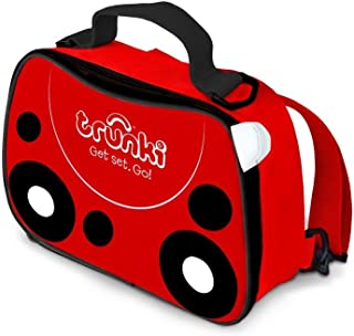 Trunki Kids Insulated Lunch Bag & Backpack With Shoulder Strap - Harley Ladybird (Red)