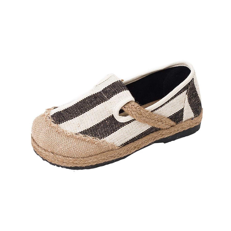 Ailj キャンバスシューズ、 女性 夏 シングルシューズ 綿布 カジュアルシューズ マタニティシューズ 漁師の靴(3色) (色 : B, サイズ さいず : EU 40/US 7.5/UK 6.5/JP 25cm)