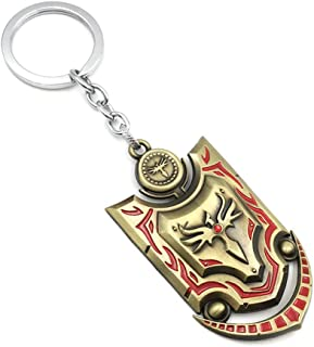 LOL League of Aurora Key Ring Valley Valkyrie Shield Key Chain