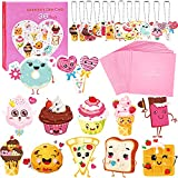 Valentines Day Cards For Kids - 36 Valentine Cards +36 Cute Keychains + 36 Pink Gift Envelopes, 12 Kids Snack Cards Party Favors, Greeting Cards Valentines Exchange Cards for Kids Boys Girls Classroom