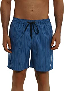 Balcony&Falcon Men's Swim Trunks Quick Dry Beach Board Shorts Breathable Watershorts Swimwear