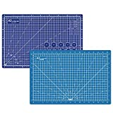 Headley Tools Durable Double-Sided Self Healing Cutting Mat - Property Help Mat Re-Heal Itself;Made of Durable 5-Ply Material .Rotary Mat Size: 45 x 30 cm (A3).Dark Blue/Light Blue
