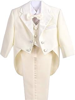 Lito Angels Baby Jungen 5 Teiliges Formale Smoking Anzug Anlass Kleidung Page Boy Anzug Hochzeit mit Fliege