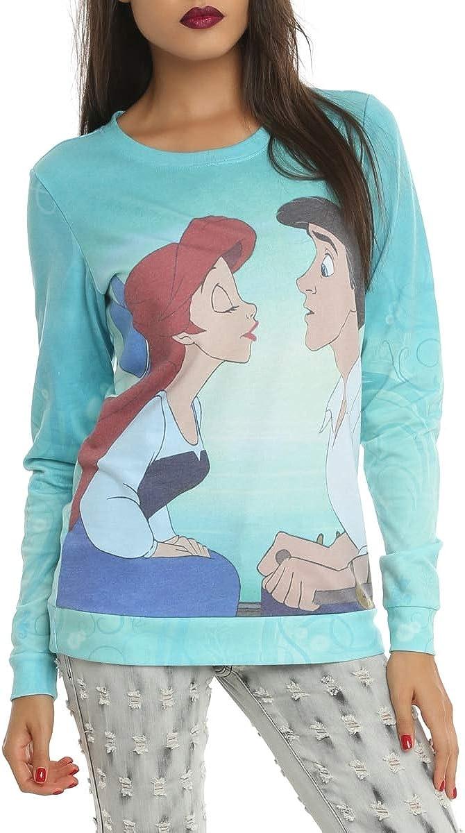 Disney San Francisco Mall The Max 71% OFF Little Mermaid Kiss Girls Pullover Black Girl Top