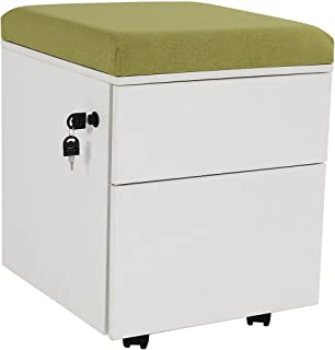 mobile pedestal file with cushion