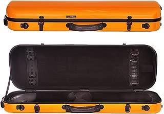 Tonareli Oblong Fiberglass Violin Case - Orange 4/4 VNFO1005