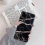 Cocomii Matte Marble Armor iPhone 11 Coque Nouveau [Or Rose Stries Brillantes Granit]...