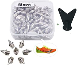 "Track Spikes 1/4"" Length Pyramid Shoes Spike Replacements Stainless Steel for Track Sprint Cross Country with Storage Box"