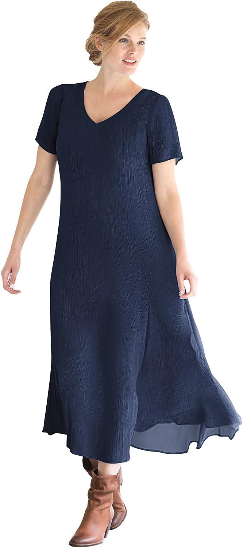 Woman Within Women's Plus Size Crinkle Dress