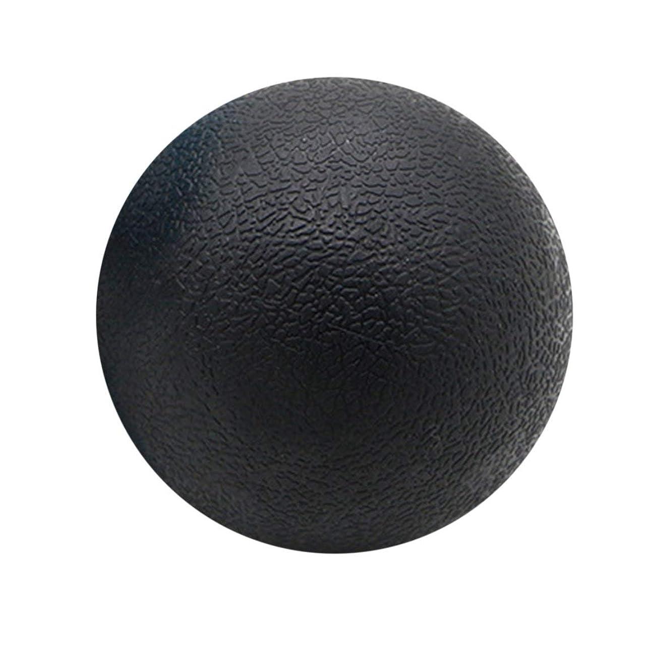 細部経度対抗フィットネス緩和ジムシングルボールマッサージボールトレーニングフェイシアホッケーボール6.3 cmマッサージフィットネスボールリラックスマッスルボール - ブラック