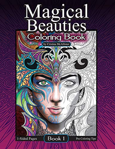 Magical Beauties Coloring Book: Book 1