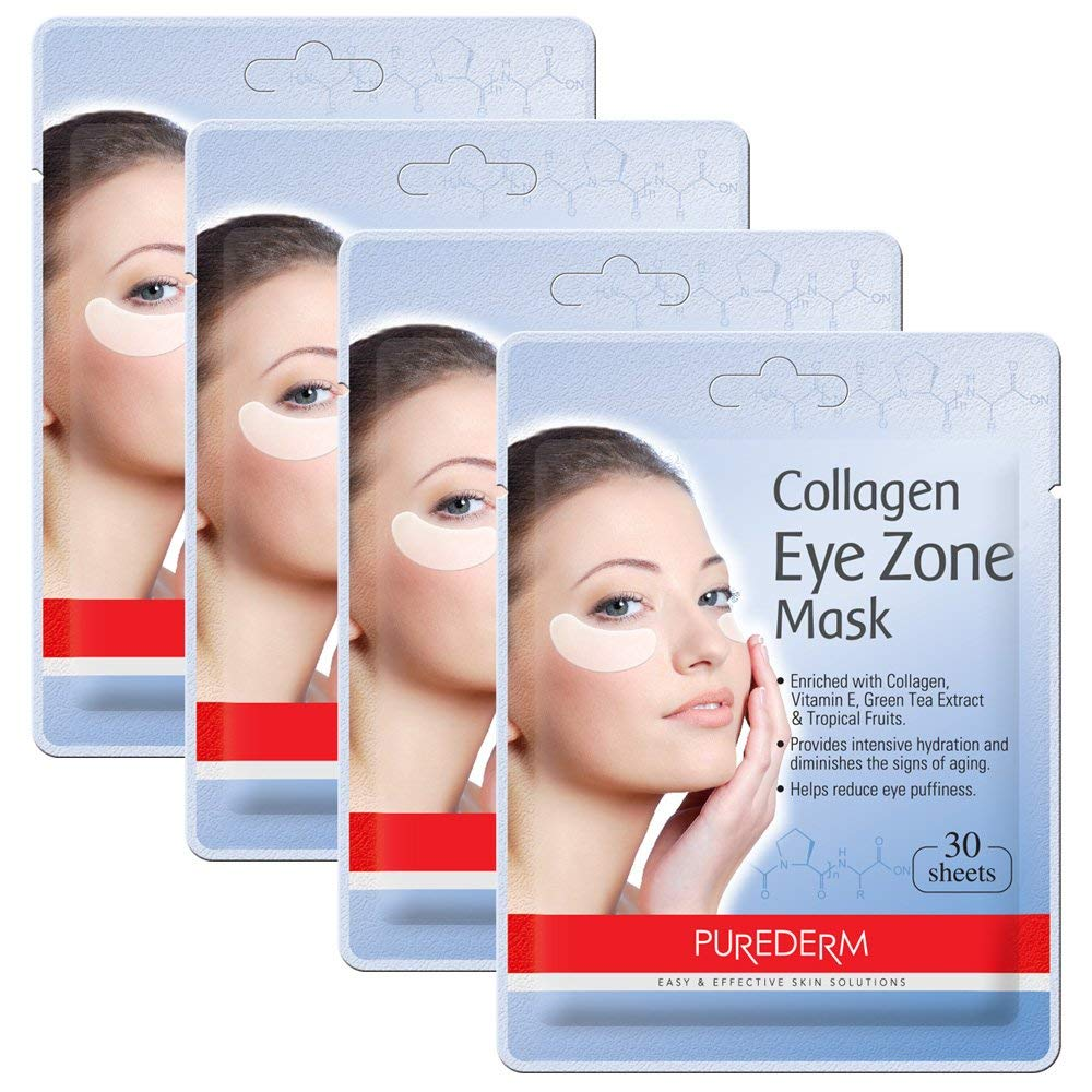Deluxe Collagen Eye Mask We OFFer at cheap prices Pads For P Miami Mall Women By 4 Purederm