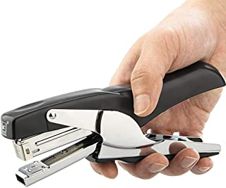 Plier Stapler, Heavy Duty Desk Stapler 20-Sheet Capacity, Packaging Stapler for Warehouse Office, Black