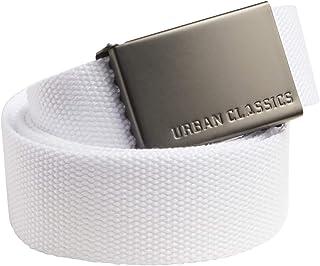 Urban Classics Canvas Belt Cintura con Fibbia Scorrevole in Metallo, Regolabile, 100% Poliestere, Diversi Colori Disponibi...
