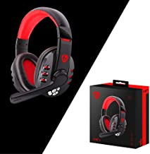 Game Headset Bluetooth Headset Wireless Gaming Headset Headphones with Microphone for PC/Phone for PUBG (Black)