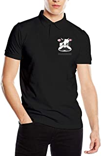 You Know And Good Moustache Men's Regular-Fit Cotton Polo Shirt Short Sleeve