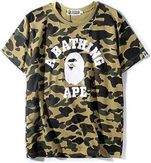 GoldBucket 1206-Unisex Bape Green Camo Teenage Adult Fashion T-Shirts