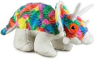 Gitzy Tie Dye Stuffed Dinosaur Toy - Stuffed Animal for Kids - Plush Triceratops