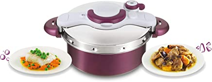 TEFAL ClipsoMinut' Duo Pressure Cooker 5 litre, one handed opening, Non-stick Induction - P4605131