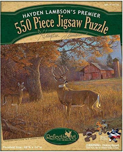 Reflective Art 550 Piece The Moment Before Gone Jigsaw Puzzle Set, 11.5' L x 2' H x 9.5' W