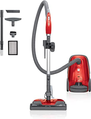 Kenmore 81414 Pet Friendly Lightweight Bagged Canister Vacuum Cleaner with Extended Telescoping Wand, HEPA Filter, 2 Motors, Retractable Cord, and 4 Cleaning Tools