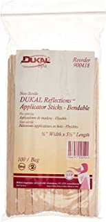 Dukal Reflections Wax Body Treatment Applicators, Beige, 100 Count