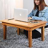 Mesa Sobre de Cama Ajustable para Portátil Escritorio Portátil Bandeja de Sofá Plegable Escritorio de Calidad para Portátil simple estudiante escritorio perezoso-G 80x60x35cm(31x24x14inch)