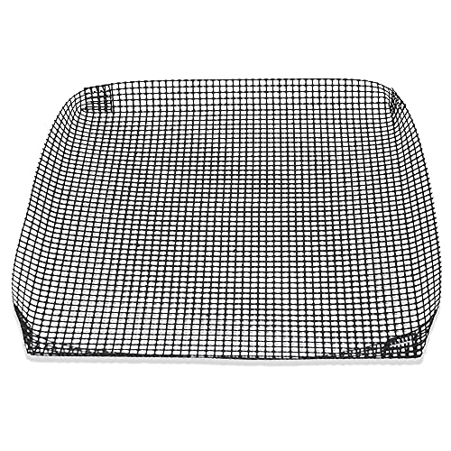 Exultimate Reusable Nonstick BBQ Grilling Basket, Mesh Sheets for Grilling, Toaster Ovens and Campfire Cooking Accessories (Black, 9- x 9.5- Inch)