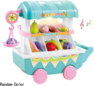 36Pcs Kinderspielzeug /Ü/ßigkeiten Trolley Rollenspiel Spielzeug Geschenke Lernspielzeug F/ür Kinder Mini Kinder K/üche Eiswagen Lebensmittel Trolley Spielzeug 39.5x20.5x31.5cm Eiswagen Spielzeug Set