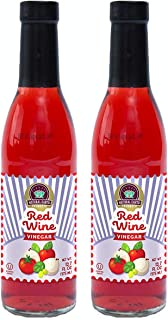 Red Wine Vinegar Unpasteurized Kosher Certified Perfect for Sauces and Salads, 12.7 Oz (2 Pack)