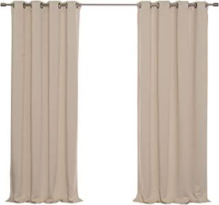 Best Home Fashion Basic Thermal Insulated Blackout Curtains - Antique Bronze Grommet Top - Beige - 52