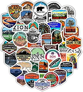 DOFE 50 PCS National Park Stickers,Car Stickers 50 pcs, Laptop Stickers,Motorcycle Bicycle Luggage Decal Graffiti Patches for Teens. (50 PCS National Park Stickers)