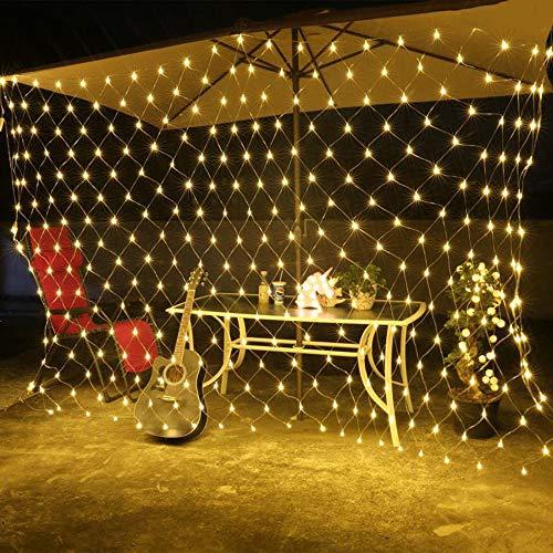 FENSIN LED Lichterkette Weihnachten Deko,LED-Schnur-dekoratives Licht-Netz für Weihnachtshochzeits-Garten-Dekorations-Haus YE