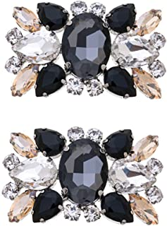 Casualfashion 2Pcs Fashion Womens Crystal Rhinestone Shoe Clips Decorations for Wedding Party Prom approx 5.8*3.7cm / 2.2...