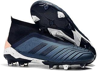gengyouyuan Chaussures de Football Haut-Haut mâle FG Ongles Chaussures de Formation de Tissage d'herbe Naturelle