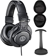 Audio-Technica ATH-M30X Professional Headphones Bundle with Knox Stand and Case (3 Items)