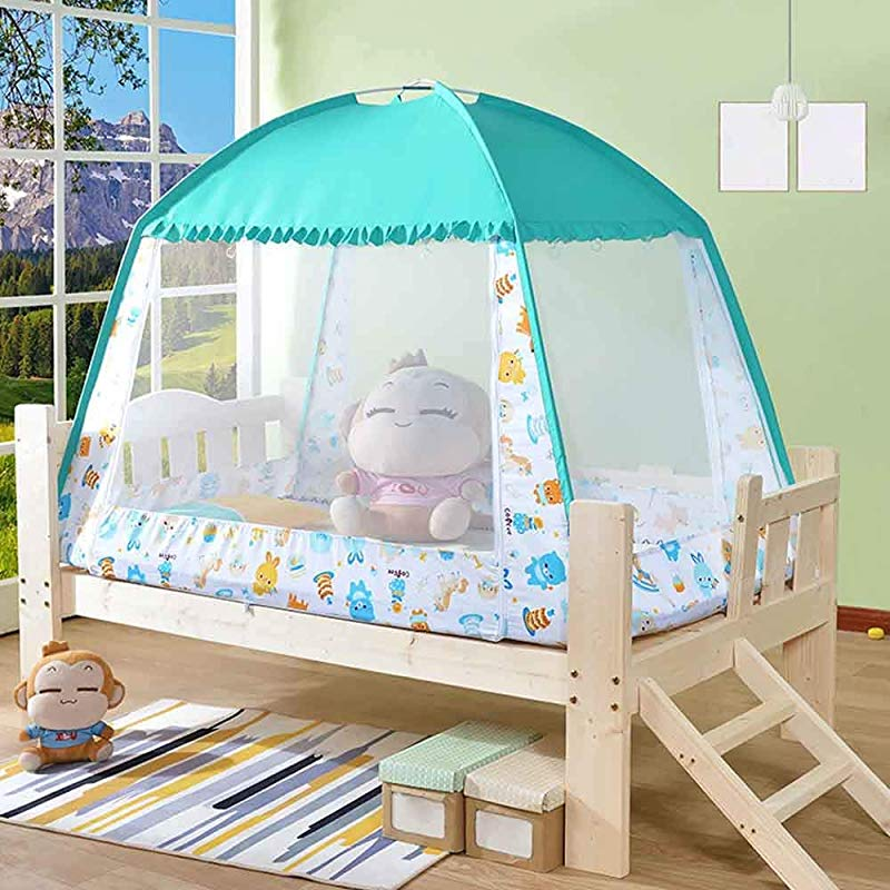 WDDH Baby Crib Tent Safety Mosquito Net Nursery Crib Canopy Netting Baby Bed Mosquito Net Safety Tent Canopy Cover For Kids