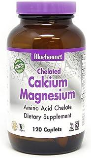 BlueBonnet Albion Chelated Calcium Magnesium Caplets, 120 Count