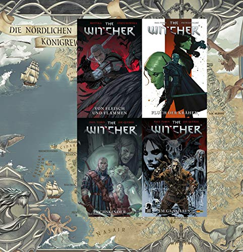 The Witcher 4 Comics im Set plus exklusive Landkarte