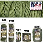 TOUGH-GRID 750lb Paracord/Parachute Cord - Genuine Mil Spec Type IV 750lb Paracord Used by The US Military (MIl-C-5040-H) - 100% Nylon - Made in The USA. 21