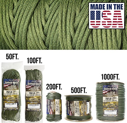 Best Review Of TOUGH-GRID 750lb Camo Green Paracord/Parachute Cord - Genuine Mil Spec Type IV 750lb ...