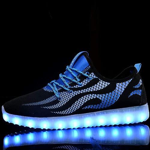 LED-Schuhe leuchten mit hohen Blinkerschuhen USB-Ladeschuhe