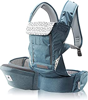 Pognae No 5 Plus Luxury Excellent Organic Baby Hipseat Outdoor All in One Carrier 9 Position for Infants Babies T (Blue)