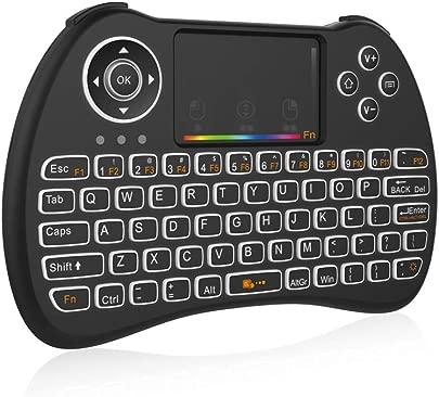 Hongfutong Air Fly Maus mit LED-Hintergrundbeleuchtung Touchpad wiederaufladbar Multi-Media tragbare Tastatur mit Luftmaus Fernbedienung Ordinary no Backlight Schätzpreis : 11,67 €