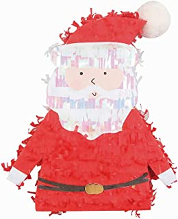 NICROLANDEE Christmas Pinata Mini - Children's Toys Santa Claus Party Supplies With Tassel Confetti Gifts for Christmas Family Holiday Home Decoration